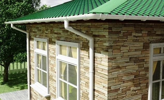 Фото водосточных систем на домах